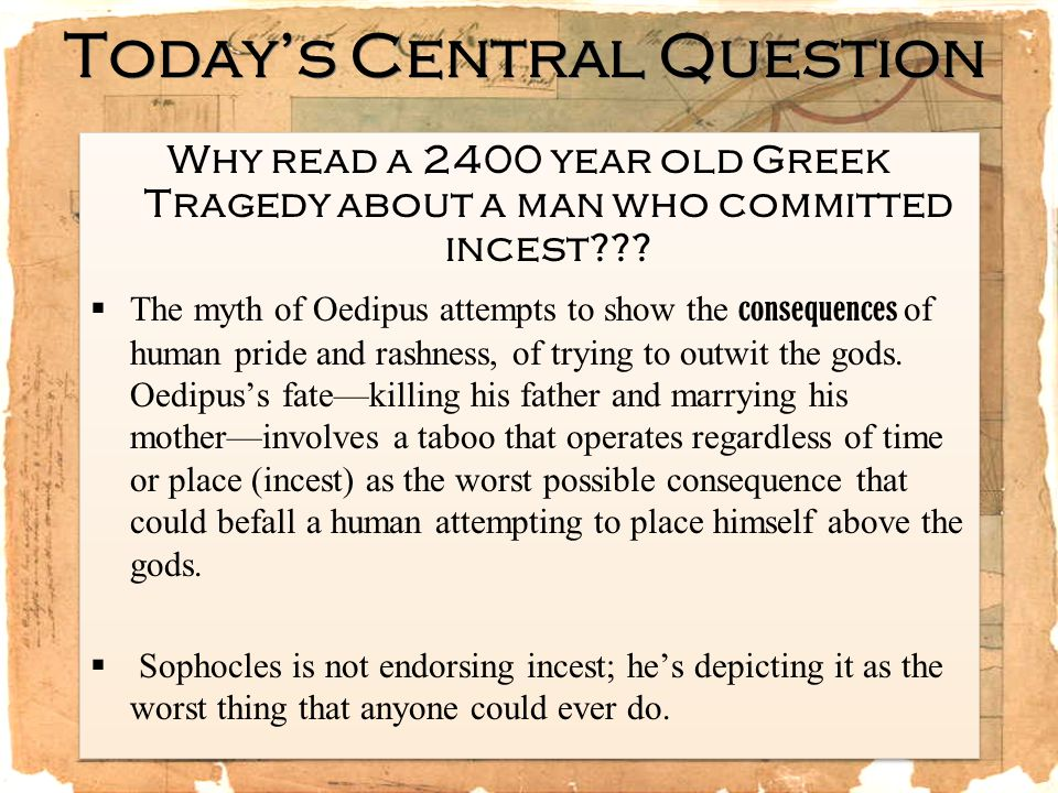 Today's Central Question