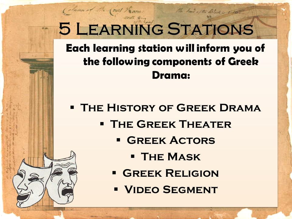 The History of Greek Drama