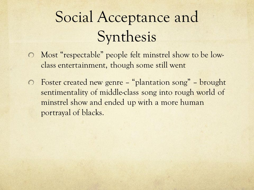 Social Acceptance and Synthesis