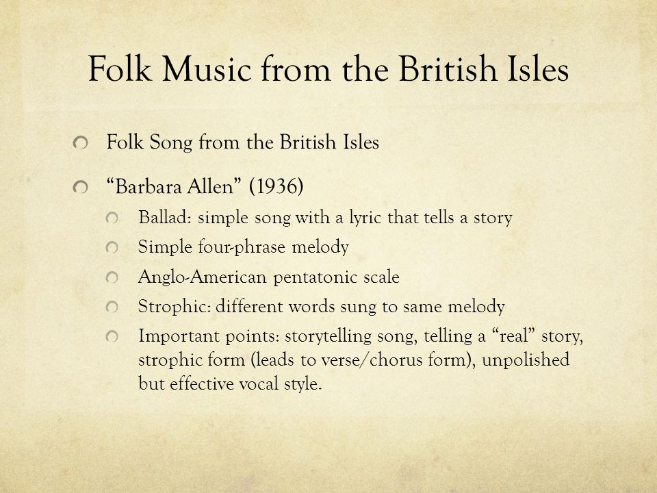 Folk Music from the British Isles