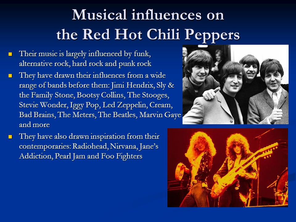 Musical influences on the Red Hot Chili Peppers