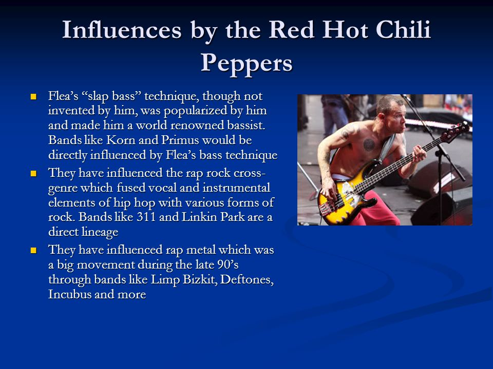 Influences by the Red Hot Chili Peppers