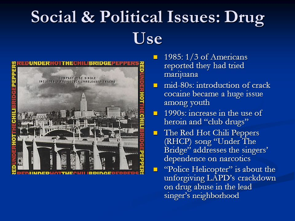 Social & Political Issues: Drug Use