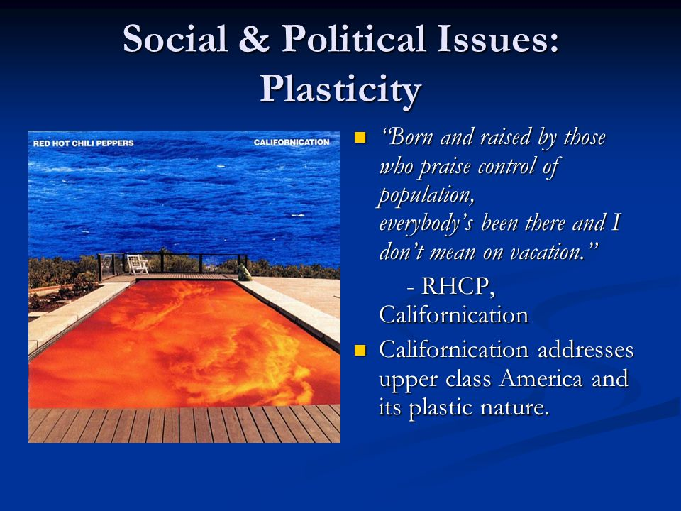 Social & Political Issues: Plasticity