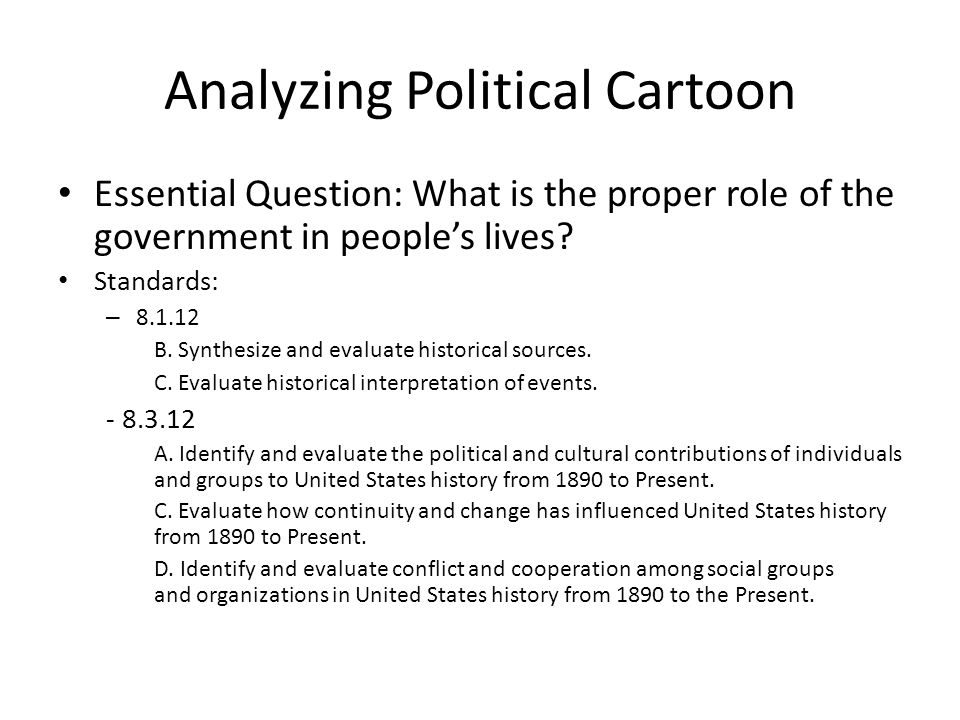 Analyzing Political Cartoon