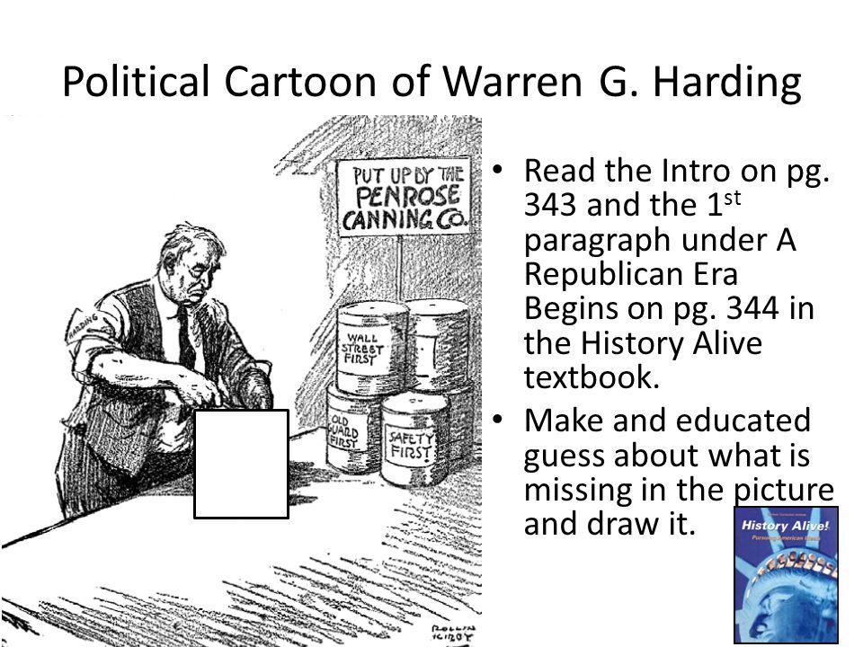 Political Cartoon of Warren G. Harding
