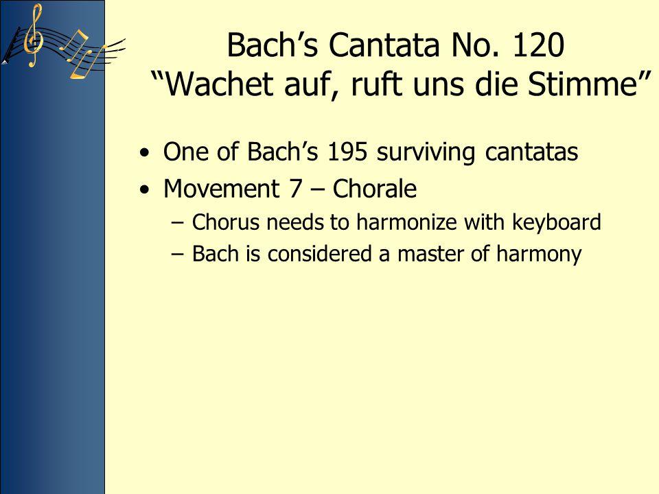 Bach's Cantata No. 120 Wachet auf, ruft uns die Stimme