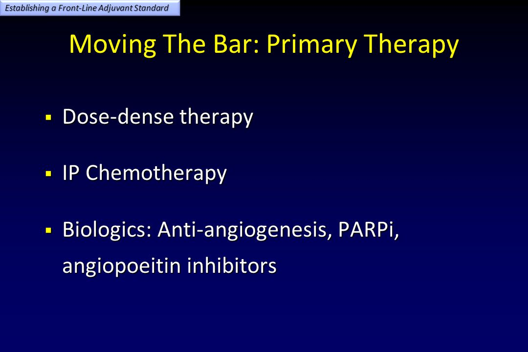 Moving The Bar: Primary Therapy