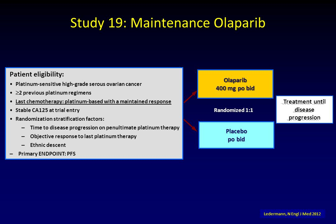 Study 19: Maintenance Olaparib