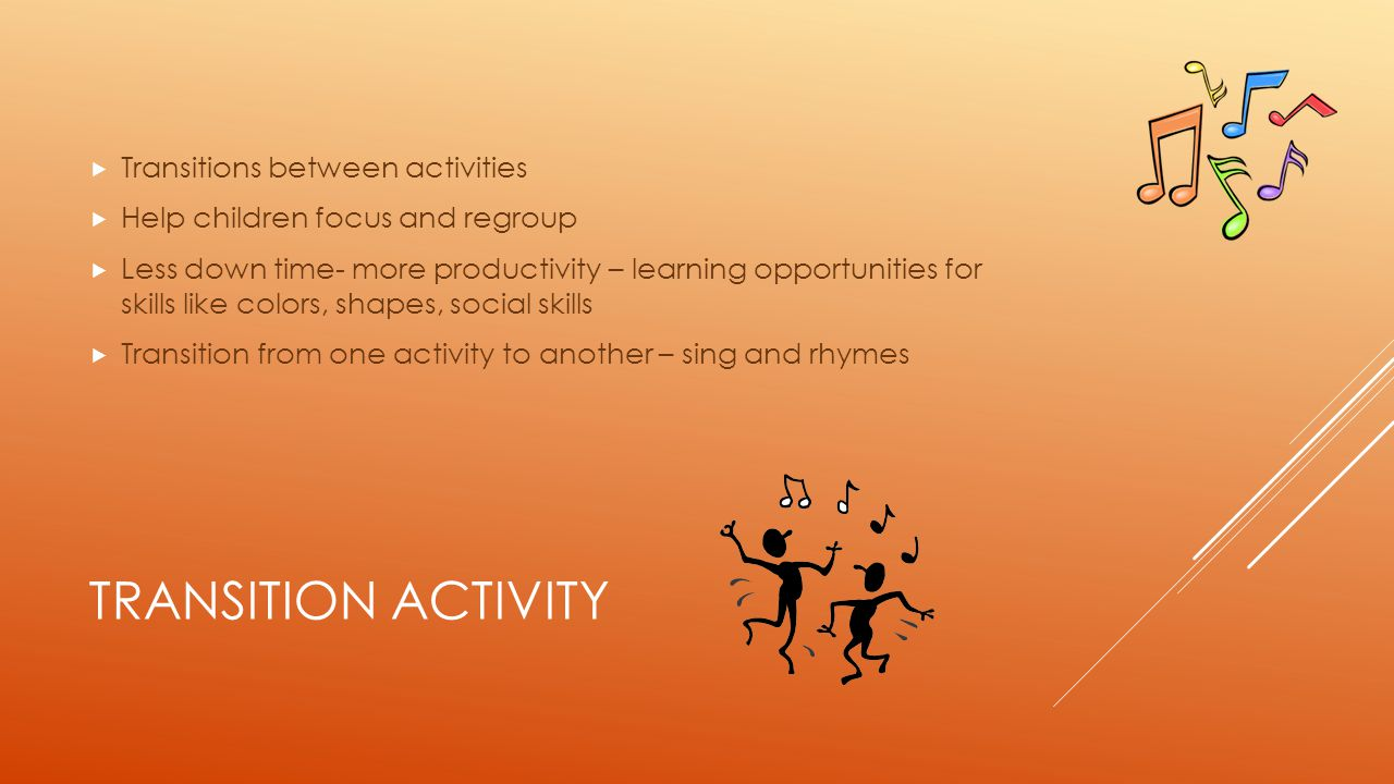 Transition Activity Transitions between activities