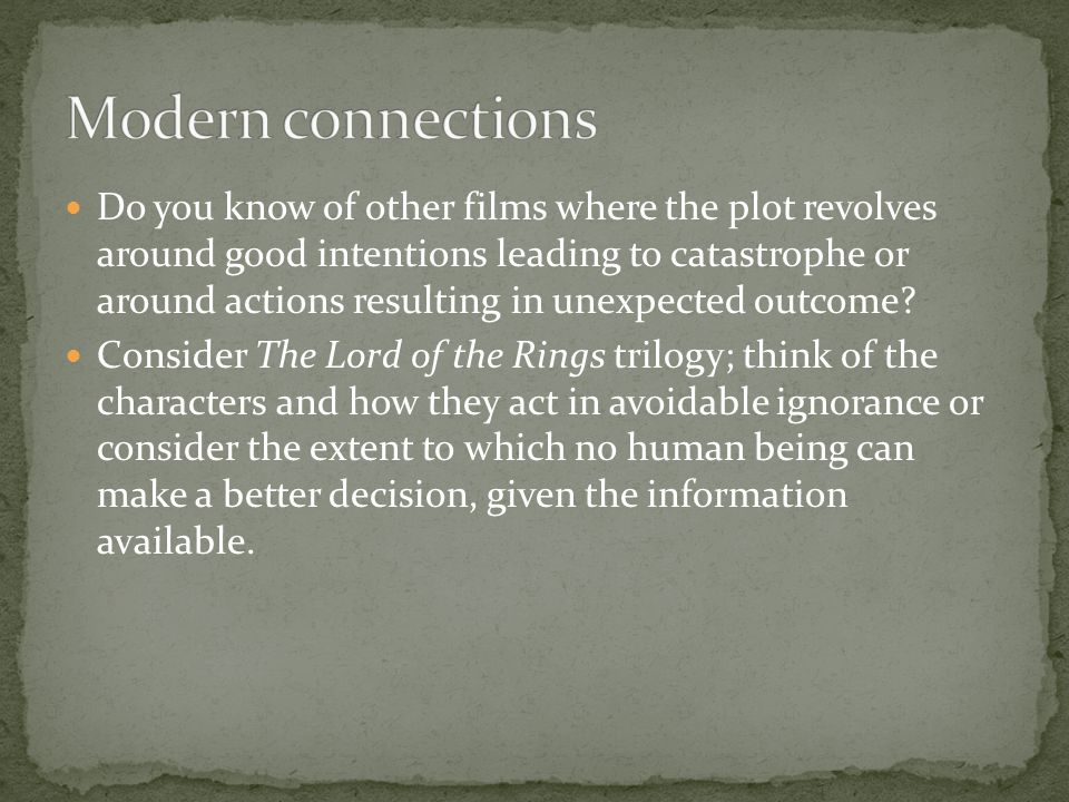Modern connections