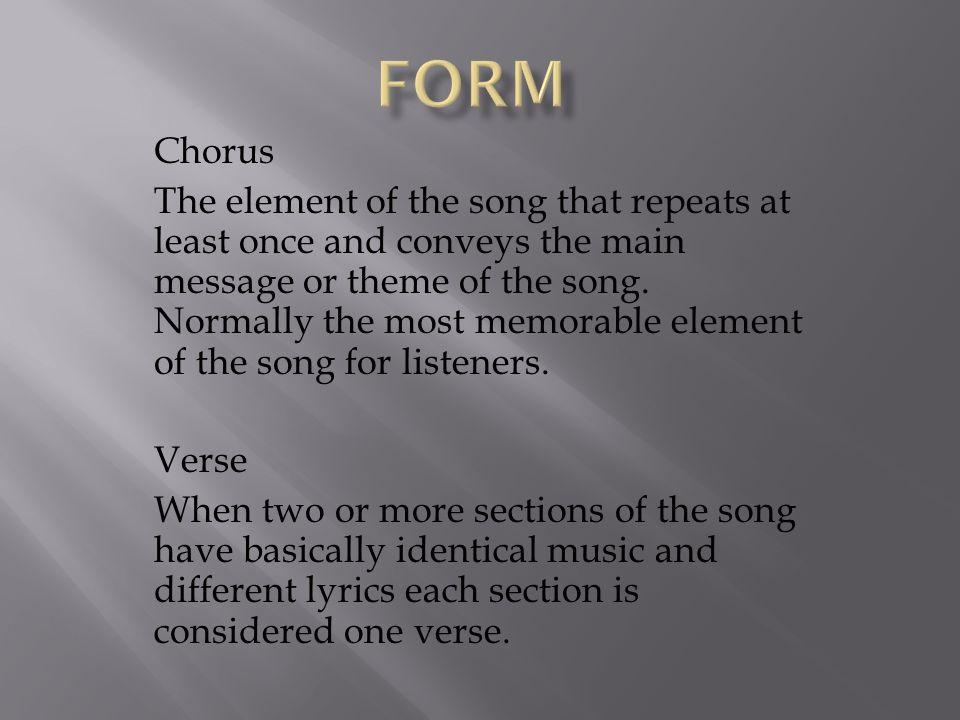 form Chorus.
