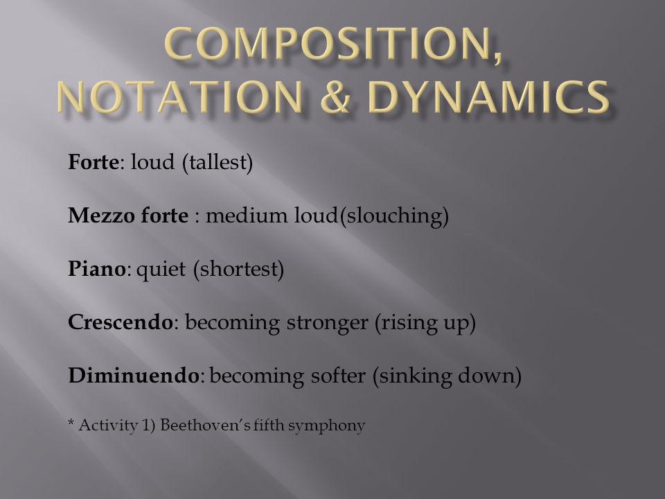 Composition, Notation & Dynamics