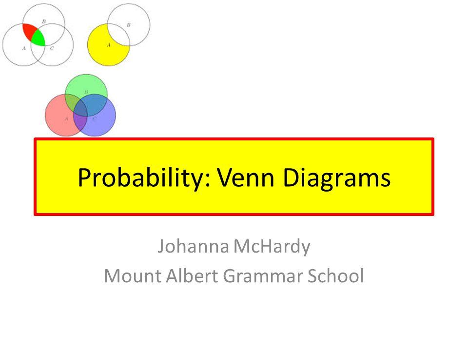 Probability: Venn Diagrams