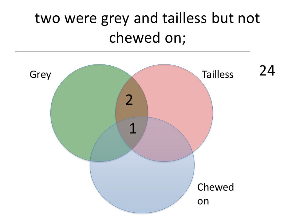 two were grey and tailless but not chewed on;