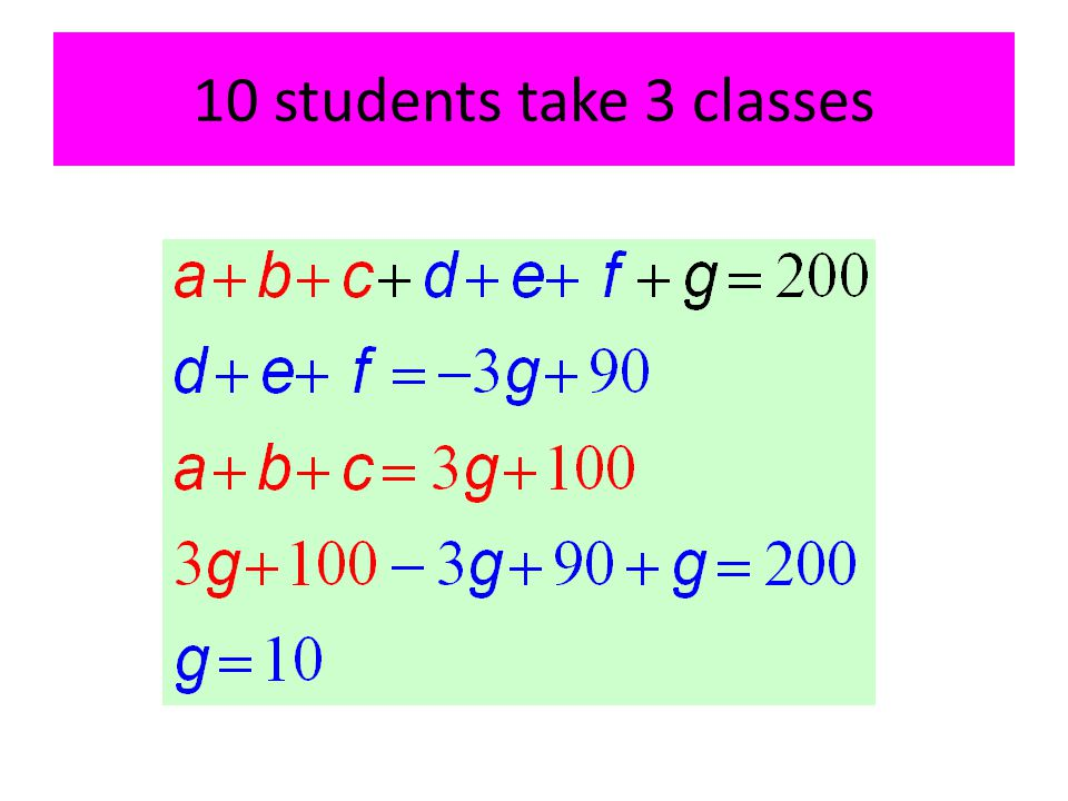 10 students take 3 classes