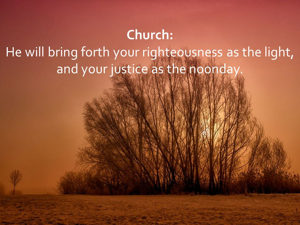 He will bring forth your righteousness as the light,