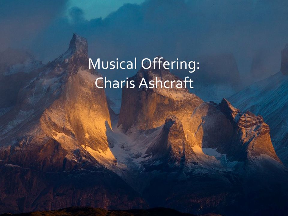 Musical Offering: Charis Ashcraft