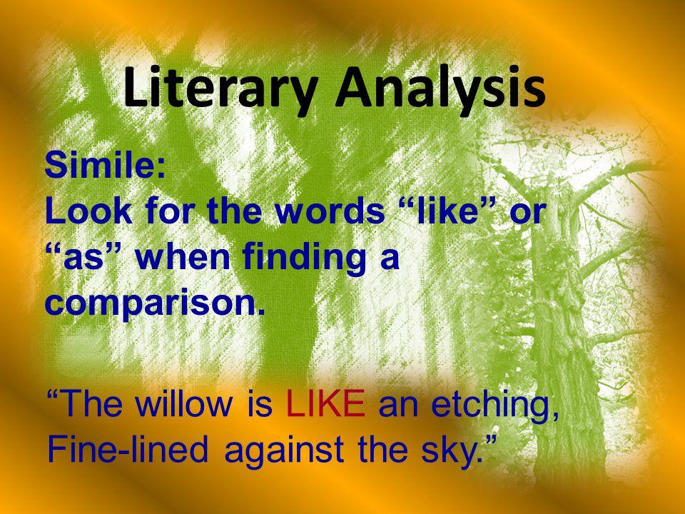 Literary Analysis Simile: