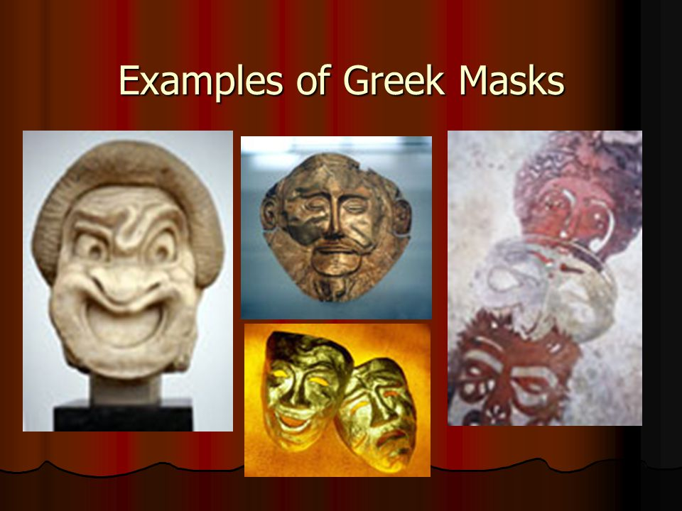 Examples of Greek Masks