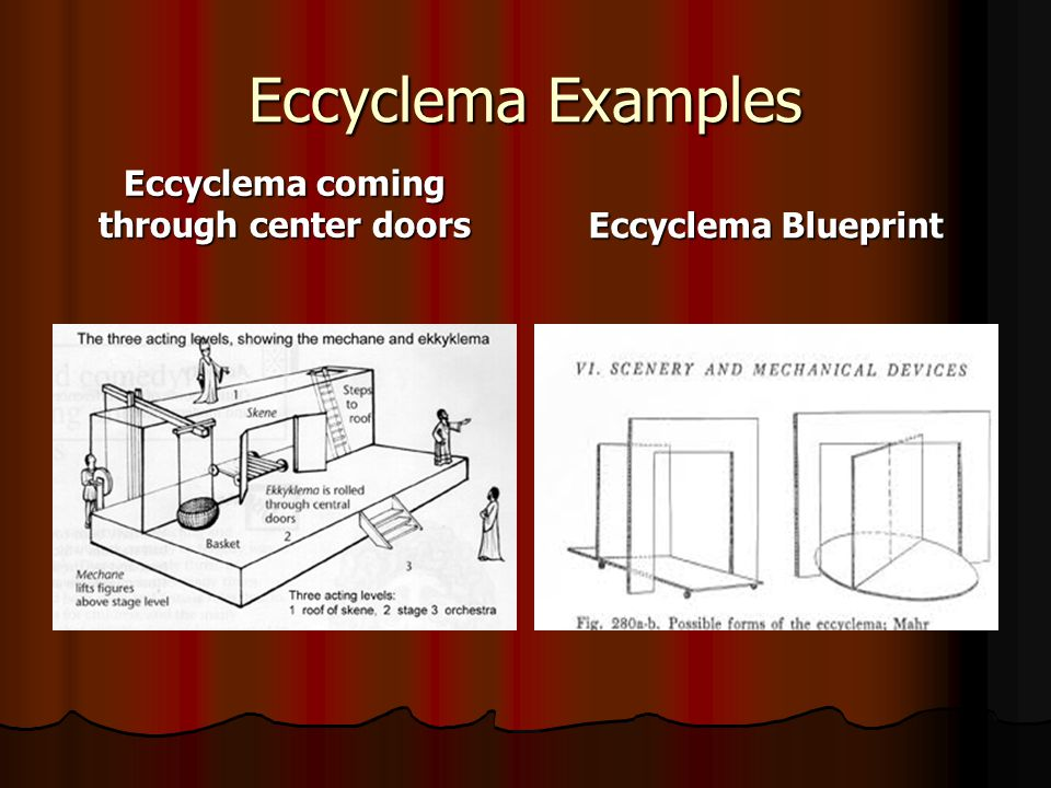 Eccyclema coming through center doors