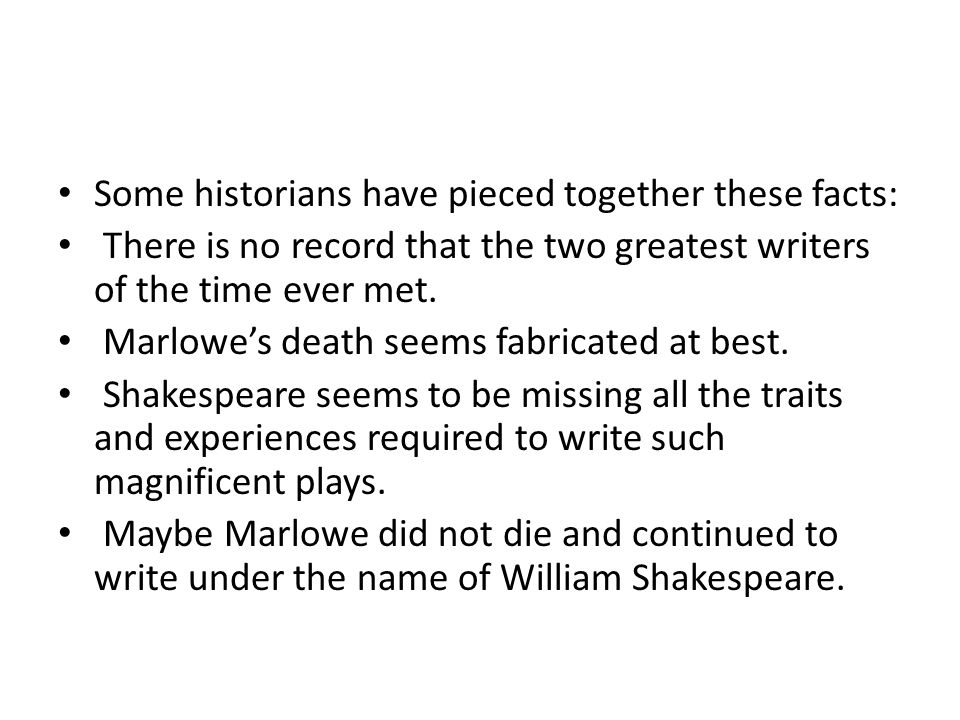 Some historians have pieced together these facts: