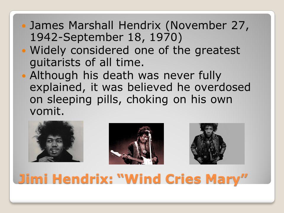 Jimi Hendrix: Wind Cries Mary