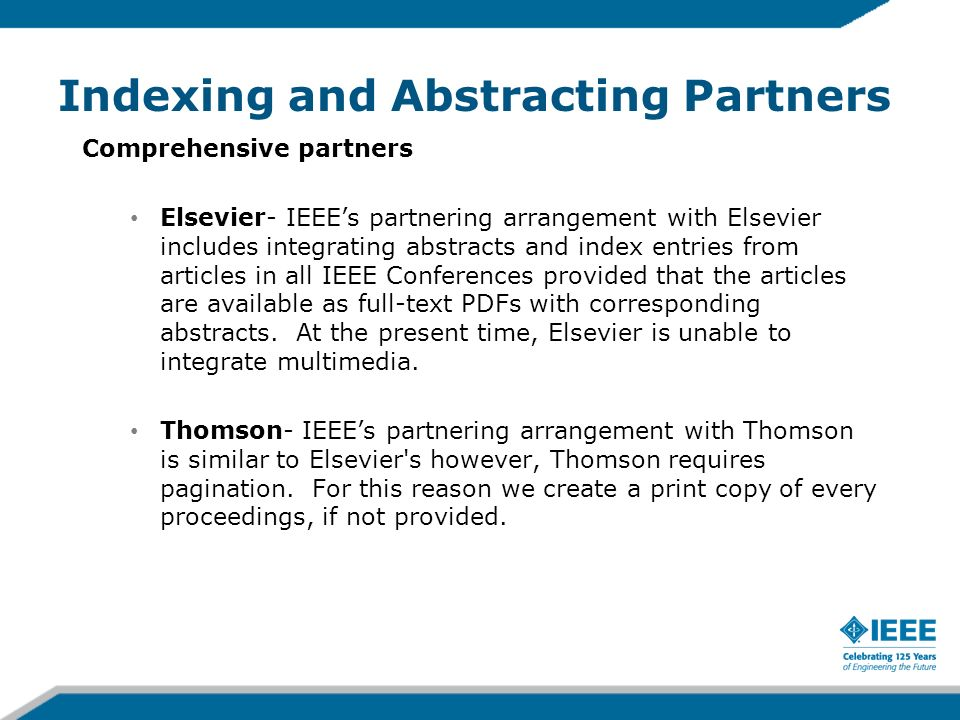 Indexing and Abstracting Partners