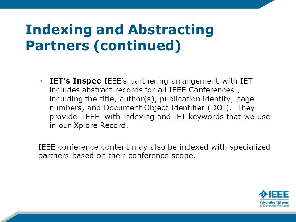 Indexing and Abstracting Partners (continued)