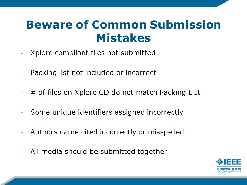 Beware of Common Submission Mistakes