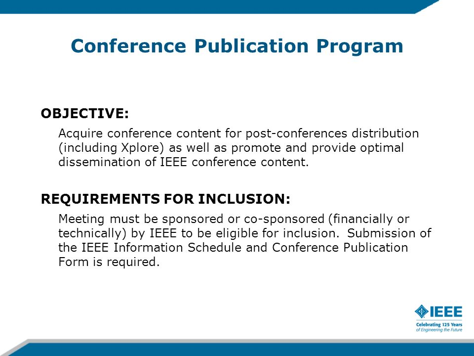 Conference Publication Program