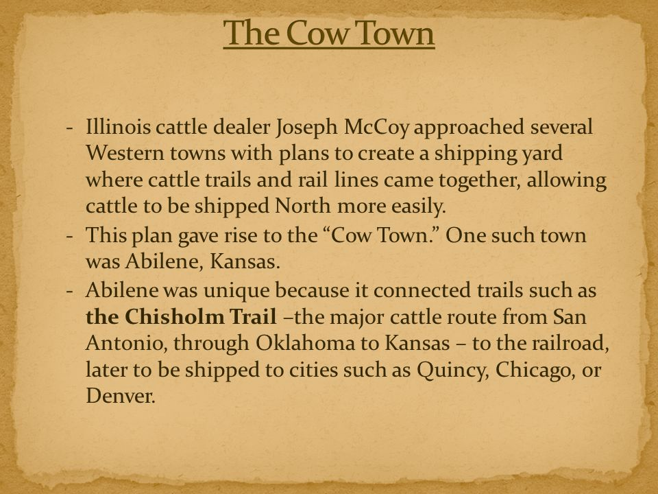 The Cow Town