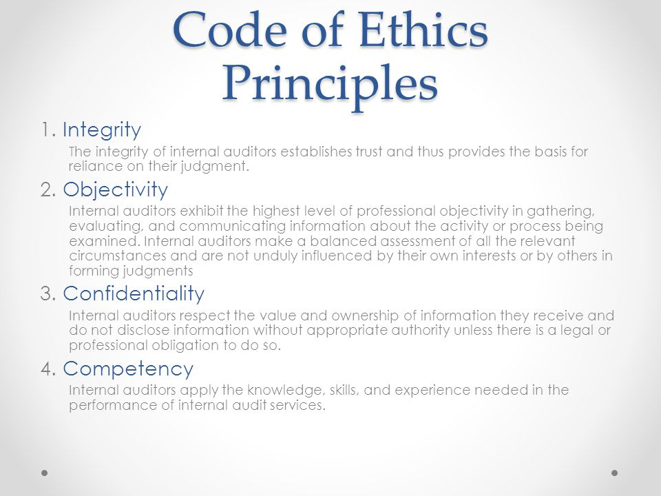 Code of Ethics Principles