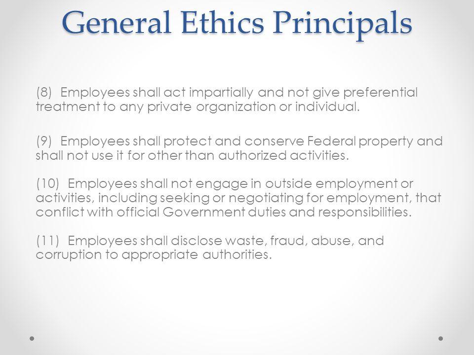 General Ethics Principals