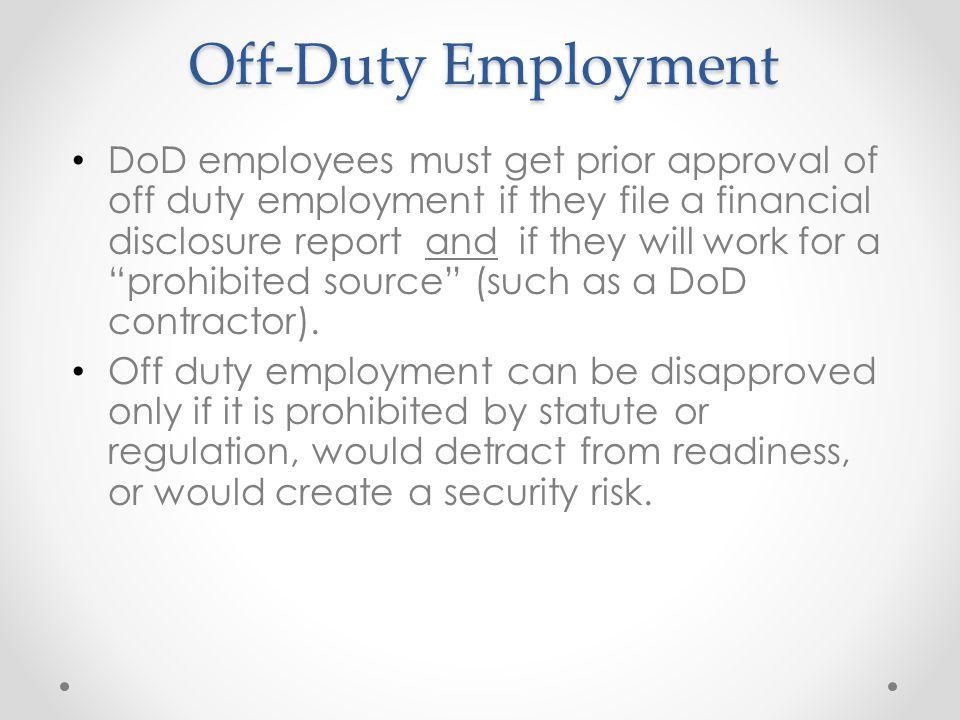 Off-Duty Employment