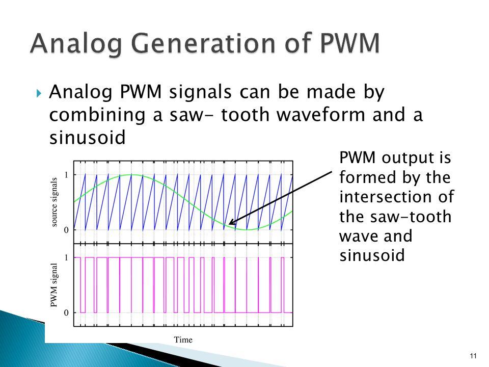 Analog Generation of PWM
