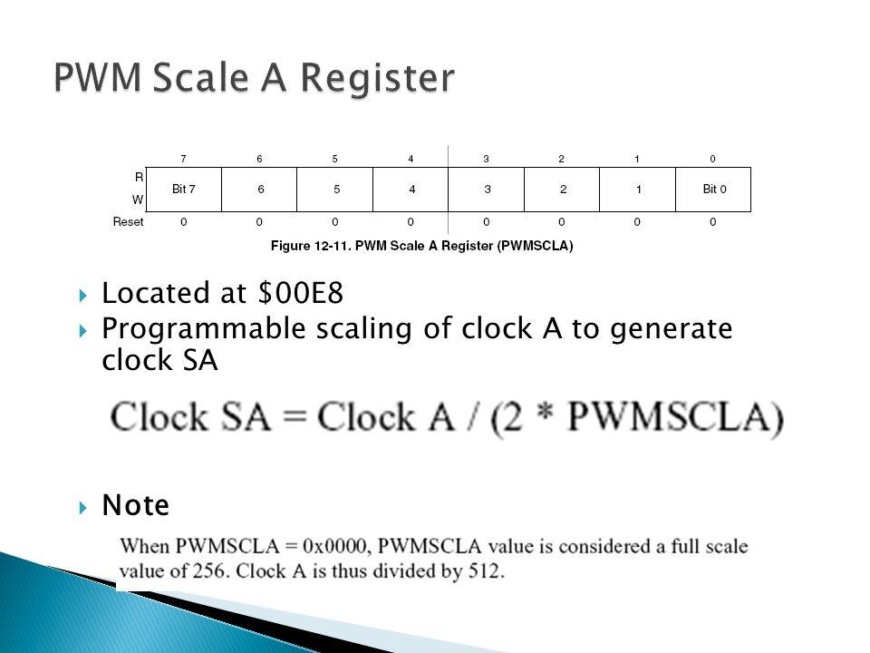 PWM Scale A Register Located at $00E8