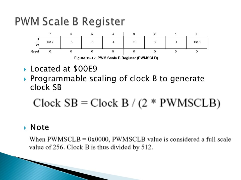 PWM Scale B Register Located at $00E9
