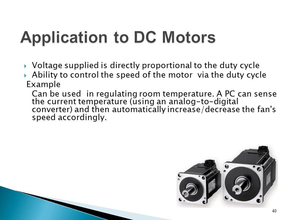 Application to DC Motors