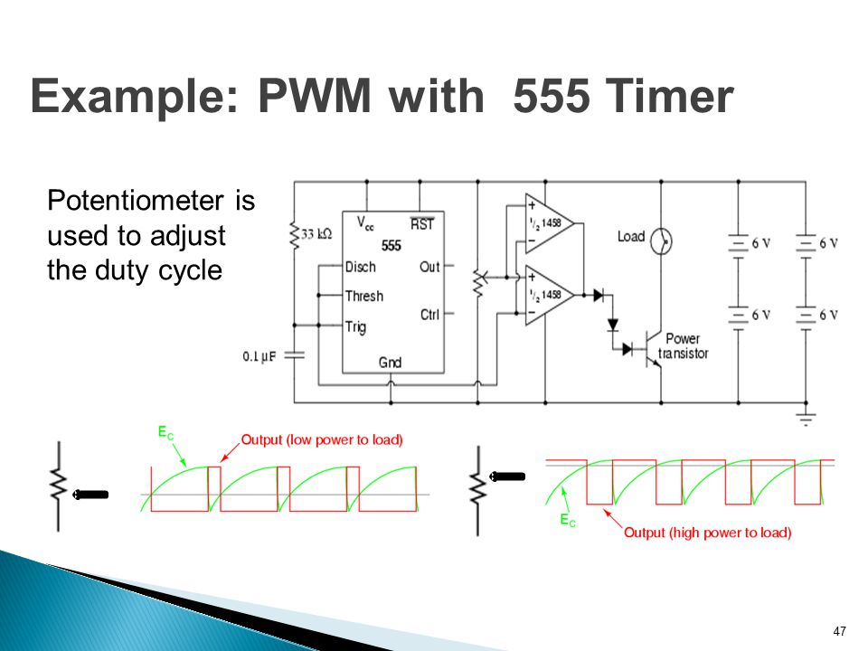 Example: PWM with 555 Timer