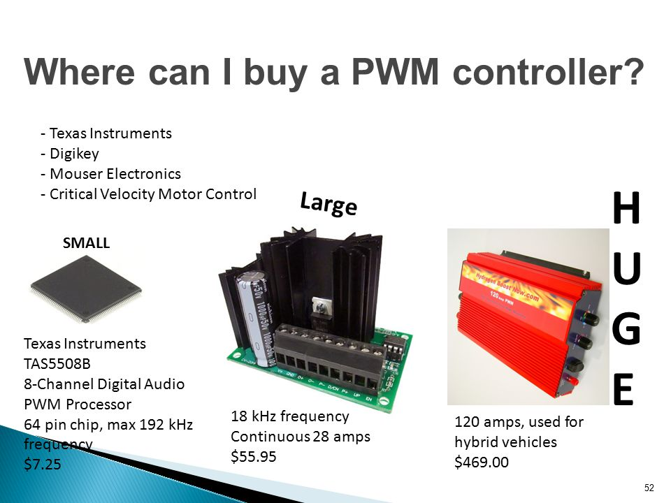 HUGE Where can I buy a PWM controller Large - Texas Instruments