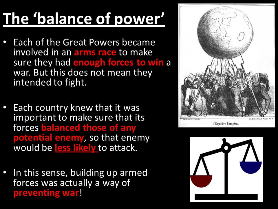 The 'balance of power'