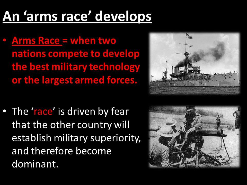An 'arms race' develops