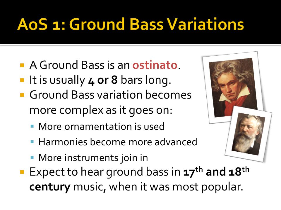 AoS 1: Ground Bass Variations