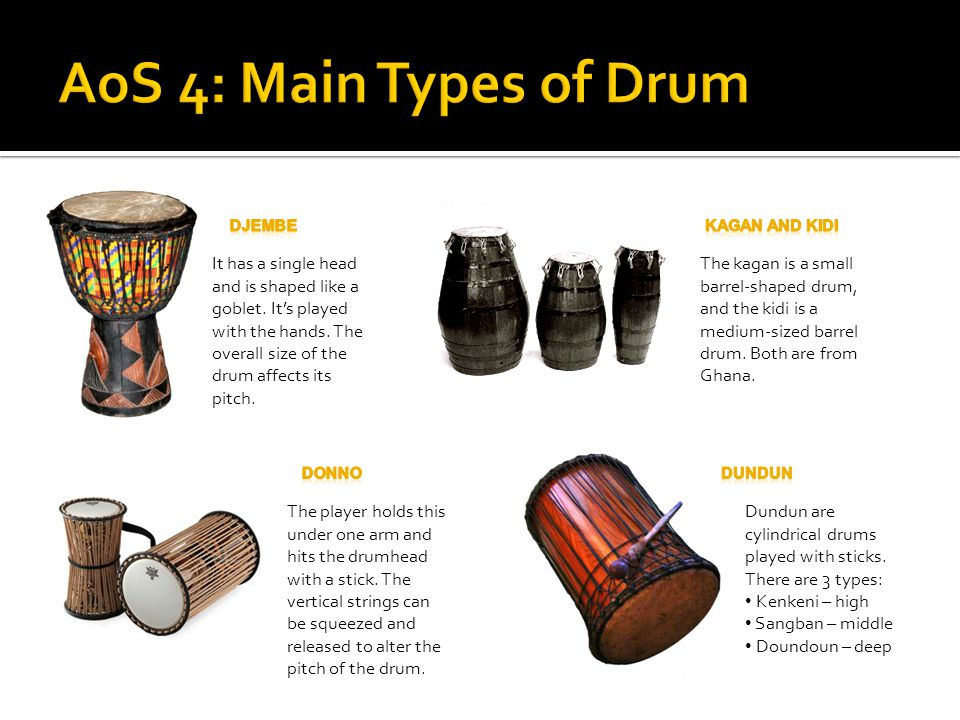 AoS 4: Main Types of Drum DJEMBE. Kagan and Kidi.