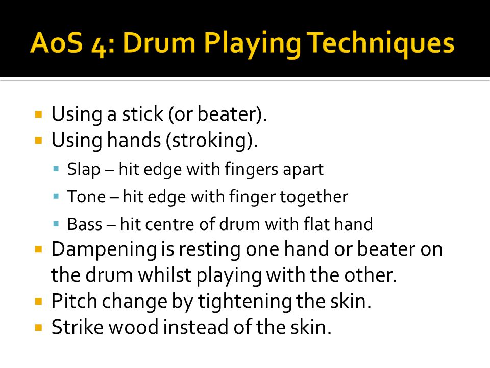 AoS 4: Drum Playing Techniques