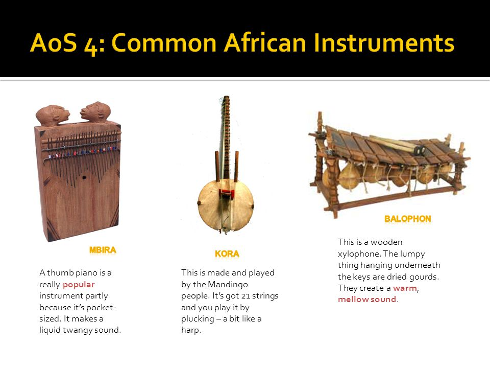 AoS 4: Common African Instruments