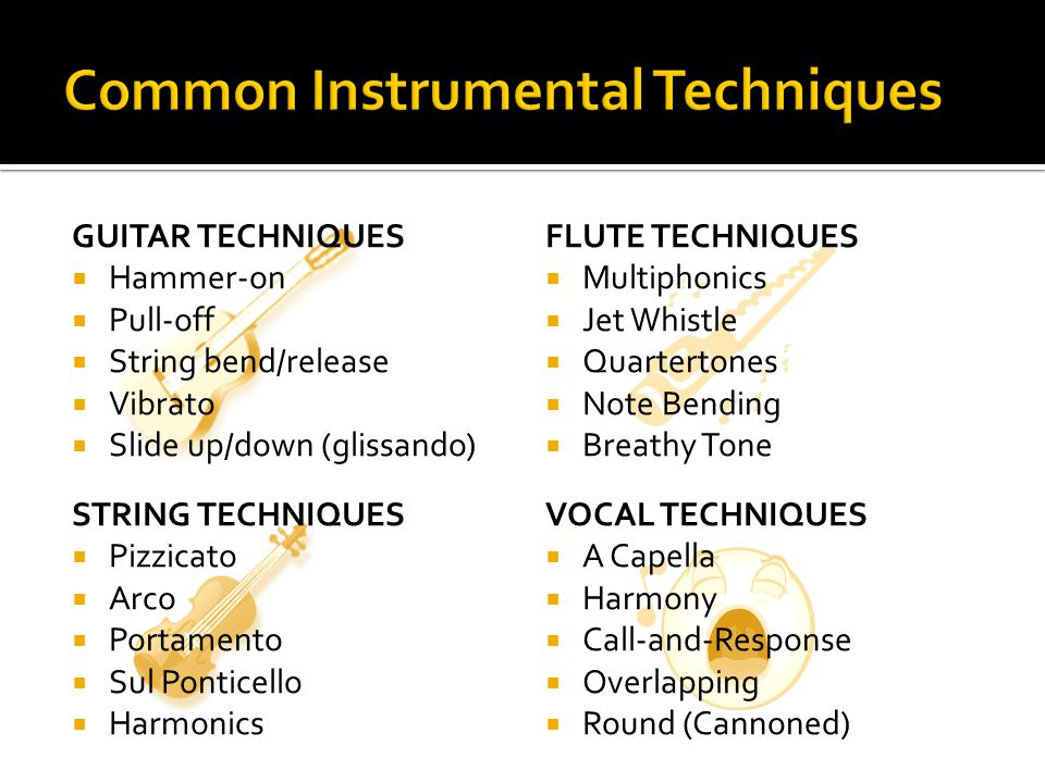 Common Instrumental Techniques