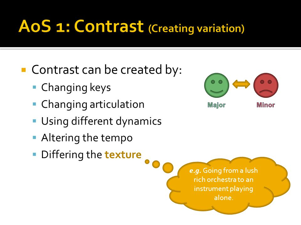 AoS 1: Contrast (Creating variation)