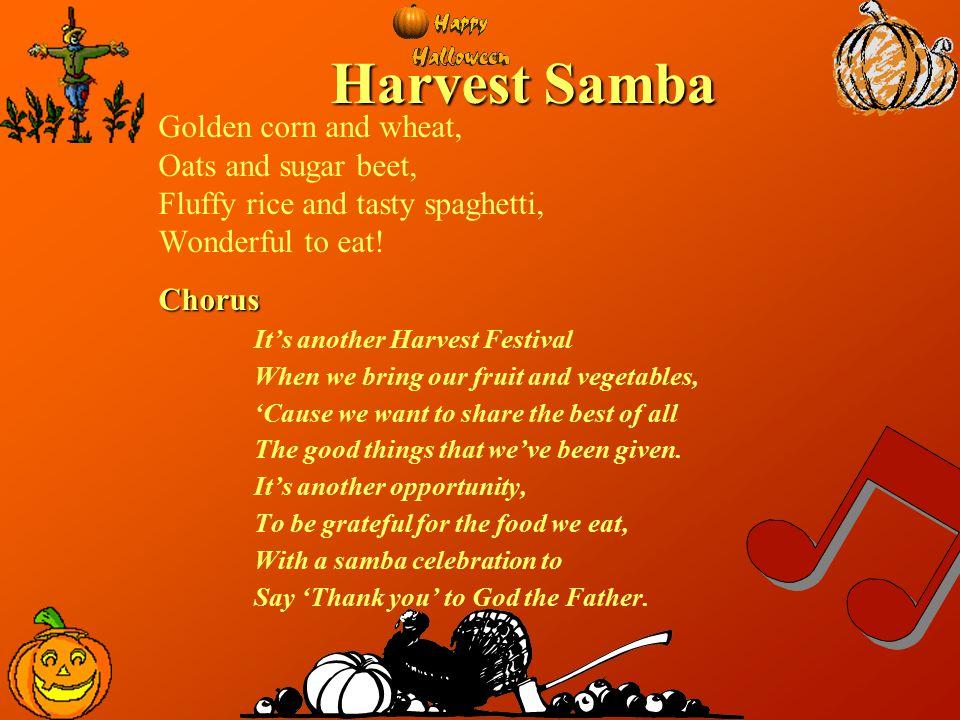 Harvest Samba Golden corn and wheat, Oats and sugar beet,